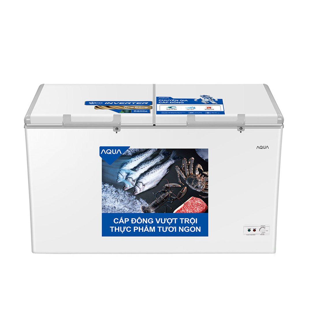 Tủ đông Aqua Inverter 365L AQF-C5702E 2 ngăn đông mát